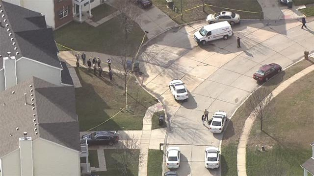 Skyzoom 4 was over the scene after a 2-year-old was shot Monday morning.
