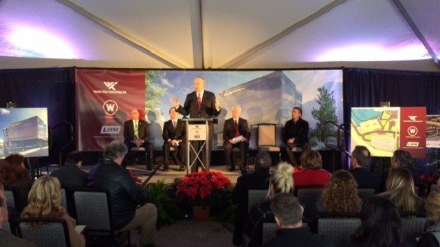 Governor Jay Nixon discusses World Wide Technology's expansion.