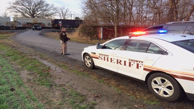A person was struck by a train on the tracks near the 9300 block of Triad Lane in Troy, Ill. Thursday morning