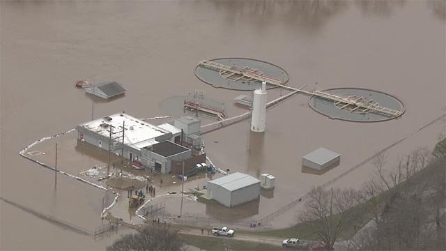 The High Ridge Water Treatment Plant was impacted by the flooding in Missouri.
