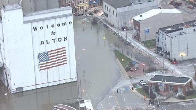 Skyzoom4 was over the City of Alton Thursday morning