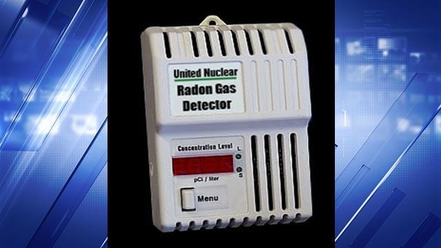 A radon gas detector (Credit: unitednuclear.com)