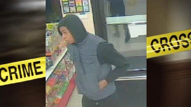 This is the suspect police are searching for in regards to the Midwest Petroleum robbery.