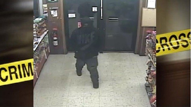 This is the suspect police are searching for in regards to the Casey's General Store robbery.