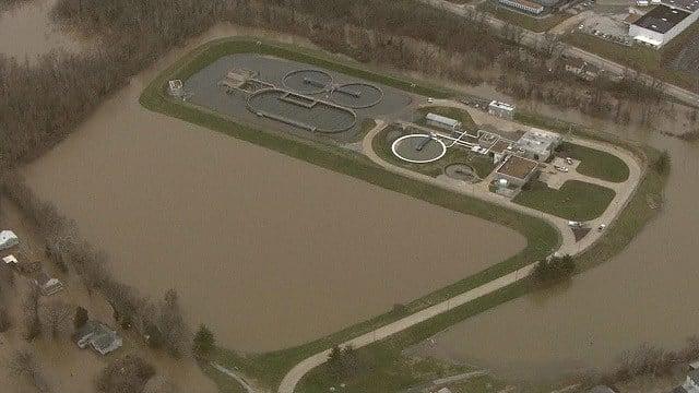Fenton wastewater treatment plant shut down due to flooding