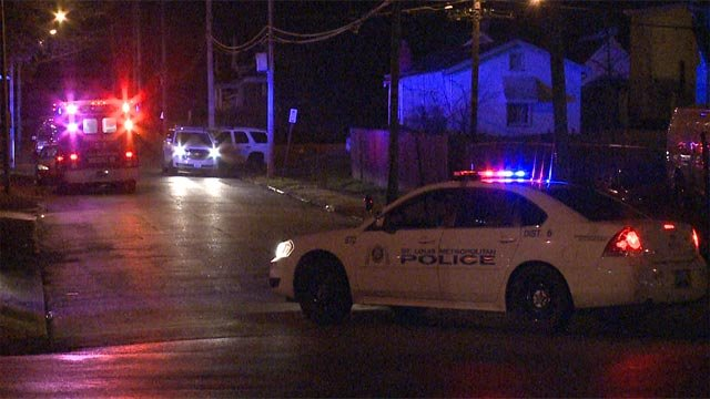 A man was shot around 1 a.m. Thursday while on Riverview Boulevard and North Broadway.