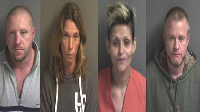 Eric Williams, Zoie Reinsch, Shawn Williams and Miranda Carra are all facing charges.