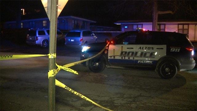 Scene where an 11-year-old boy was fatally shot in Alton, Mo. Jan. 11