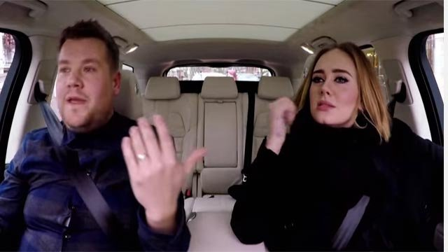 Adele joined James Corden on 'The Late Late Show with James Corden' for 'Carpool Karaoke'