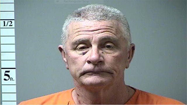 Larry Dean Rouse, 60, punched his 20-year-old son in the face before retrieving a 12-gauge shotgun from his bedroom and firing it inside a home in the 100 block of Royallprairie Lane, according to officials.