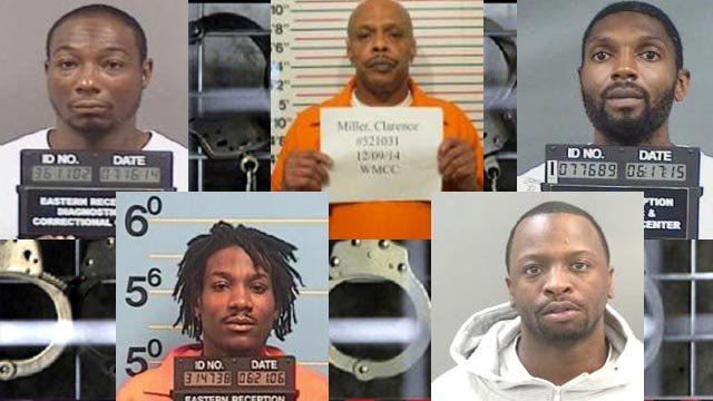 Louis Felton, Clarence Miller, Larry Boyd, Adrian Lemons and Maurice Woodson are facing charges following a multi-state drug ring bust