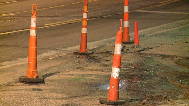 Missouri American Water responded to the broken pipe in the area of Big Bend Boulevard and Arlington Driver near Interstate 64 around 10:30 p.m., a utility spokeswoman told News 4.
