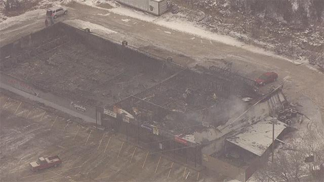 The fire broke out around 9:45 p.m. at Ball Creek Bowl in the 12700 block of Route 21.