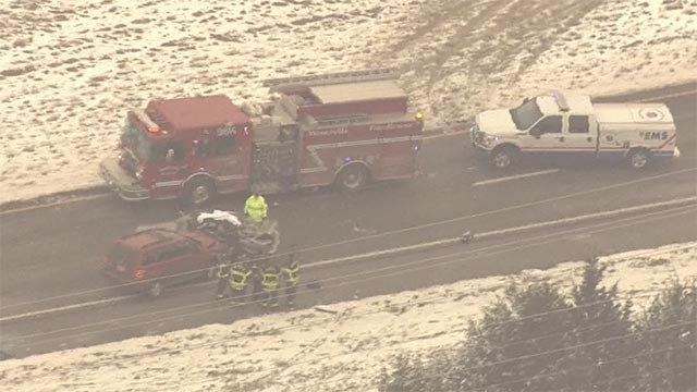 The crossover crash occurred on southbound 61 near North Point Prairie Road