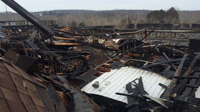Damage after the fire.