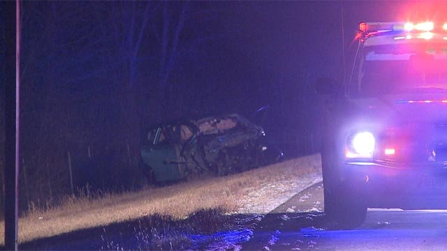 The head-on crash occurred just south of Interstate 270 around 1:10 a.m.