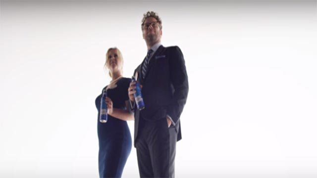 Amy Schumer and Seth Rogen will be featured in Bud Light's new campaign.  (Credit: Bud Light/YouTube)