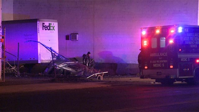A woman was killed following a crash in north St. Louis Monday