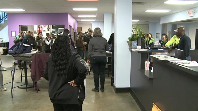 Volunteers gathered early Thursday before heading to the streets to count the homeless population in St. Louis (KMOV)