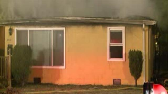 Firefighters responded after an Alorton home caught fire Friday morning