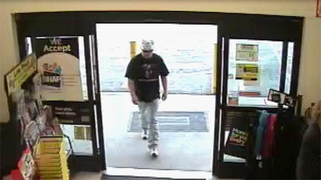 Police are searching for this Barnhart armed robbery suspect.