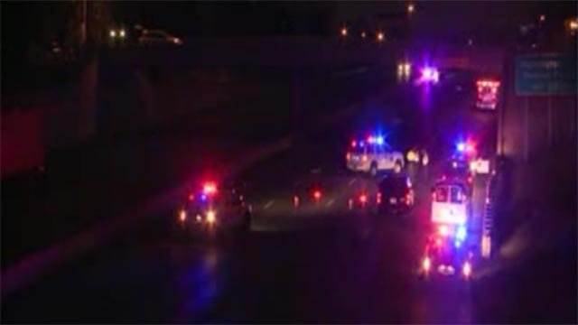 Around 4 a.m. Tuesday, the pedestrian was struck while crossing the roadway, police said. (KMOV)