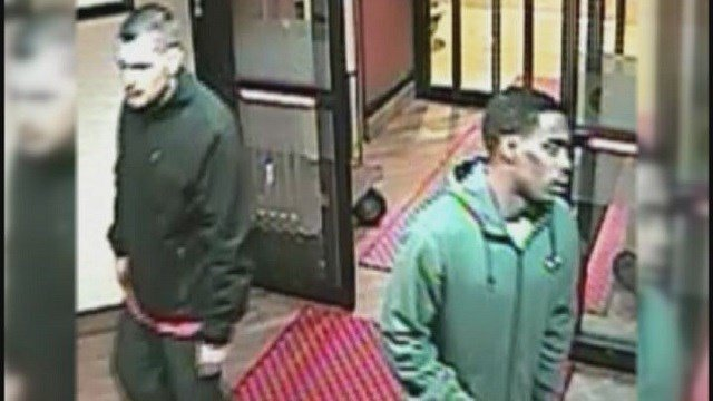 2 men suspected to steal donut company van & running with boxes of donuts