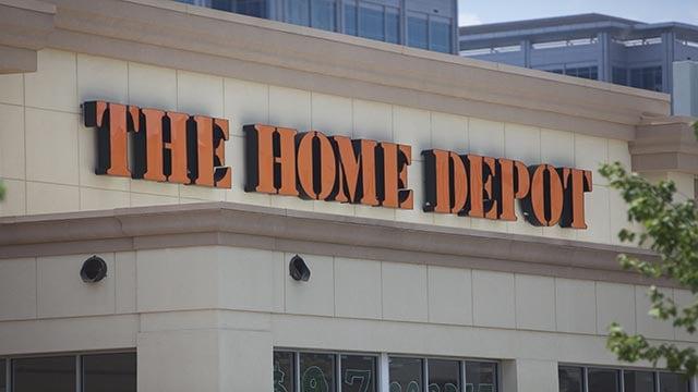 An exterior photograph of an Atlanta, Georgia-area Home Depot store. (Credit: Ferre Dollar / CNN)