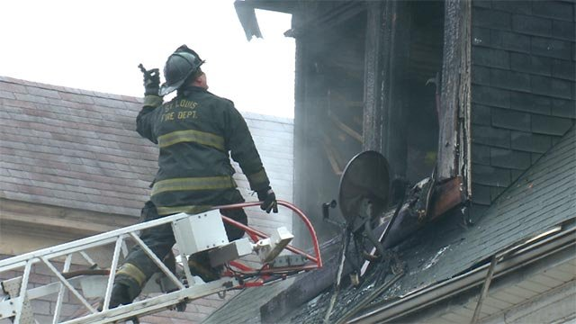 Firefighters were called the West End neighborhood after a home caught fire Wednesday (Credit KMOV)