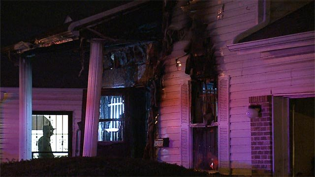 A man was killed when he became trapped in a home that caught fire Wednesday night in East St. Louis (Credit: KMOV)