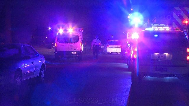 Three crime scene vans were seen at the scene in the 9800 block of Wendellfollowing the assault just after midnight.