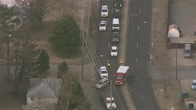 An off-duty officer was involved in a crash on Ellendale and Canterbury Friday (Credit: KMOV)