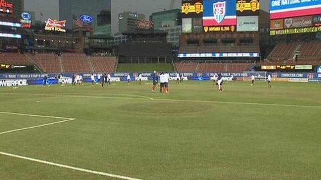 A World Cup Qualifier was held at Busch Stadium in November (Credit: KMOV)