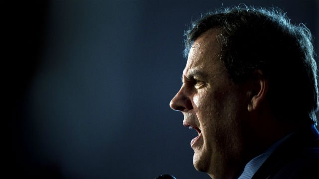 Republican presidential candidate, New Jersey Gov. Chris Christie speaks during a news conference Monday, Jan. 25, 2016, in Concord, N.H. (AP Photo/Matt Rourke)