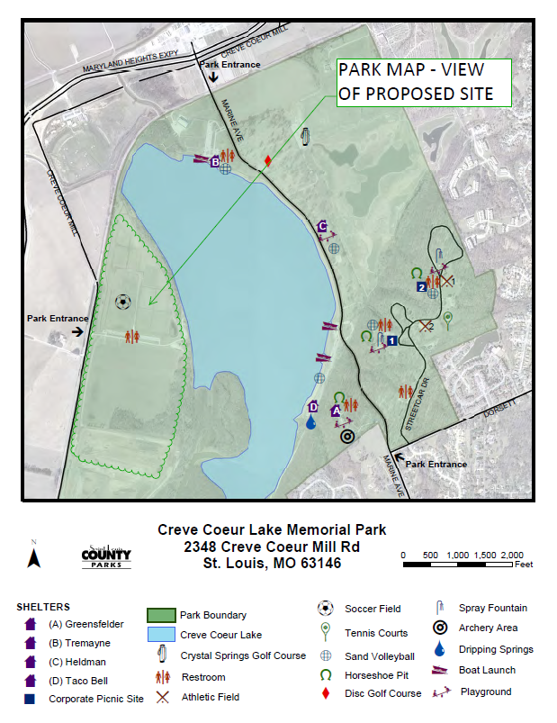 A map of the propsoed Creve Coeur Lake Memorial Park (Credit: St. Louis County Parks)