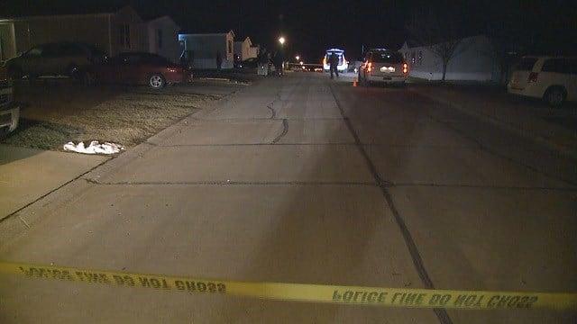 Scene of teen stabbed in O'Fallon, Mo. (Credit: KMOV)