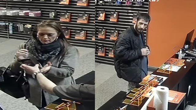 The suspects are accused of stealing an LG Flex phone from a Boost Mobile (Credit: KMOV)