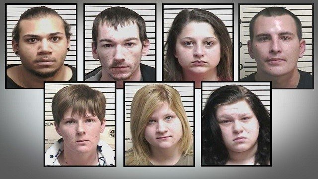 Seven in jail after drug bust in Wood River, Illinois (Credit: Wood River Police Department)