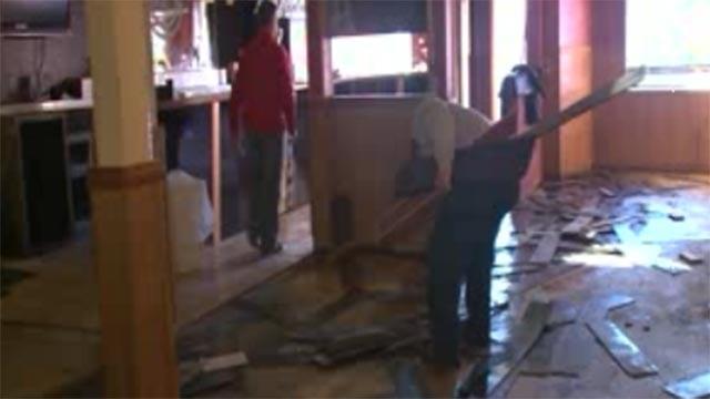 Crews cleaning up and remolding Joe Boccardi's in Eureka (Credit: KMOV)