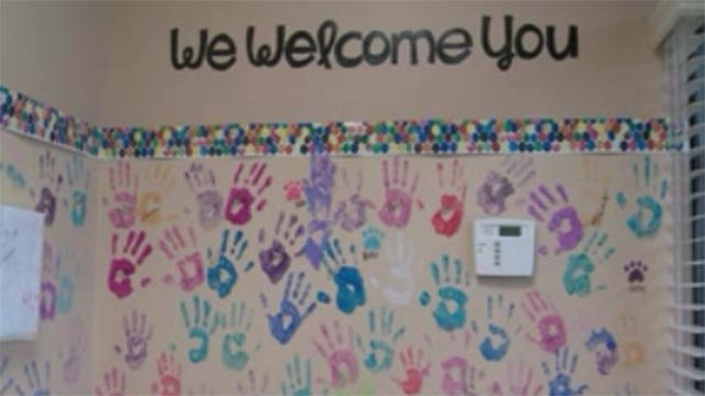 A wall at The Child Center (Credit: KMOV)