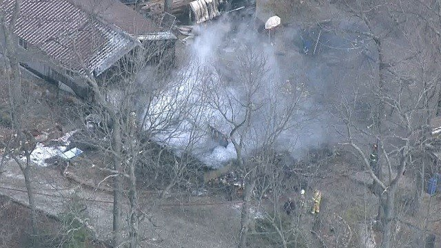 Firefighters at the scene of a house fire in Eureka on Feb. 17. (Credit: KMOV)