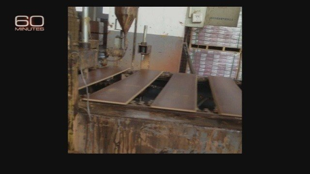 Study done of Lumber Liquidators laminate flooring by the Consumer Product Safety Commission with the CDC (Credit: 60 Minutes)