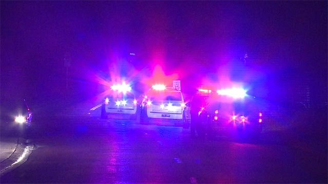 2 suspects were taken into custody following a short pursuit in St. Charles Monday night (Credit: KMOV)