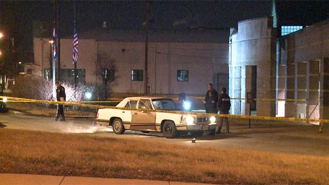 A man was pronounced dead after being shot and dropped off the North Patrol police station overnight (Credit: KMOV)