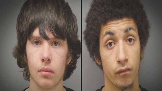 Matthew Miller, 18, and Durpi Maxwell, 19, were both charged with first degree robbery for allegedly robbing two elderly men at knife point at a Webster Groves McDonalds. Credit: St. Louis County PD