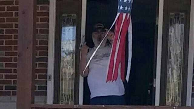 Leonard Debello allegedly threatened a Muslim family with a gun because of their religious beliefs Credit: KMOV