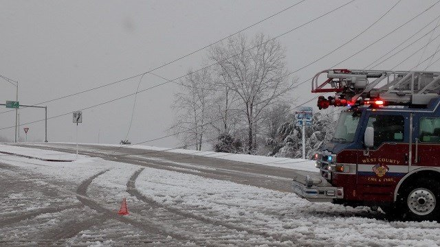 Power lines down in West County (Terry Cancila)