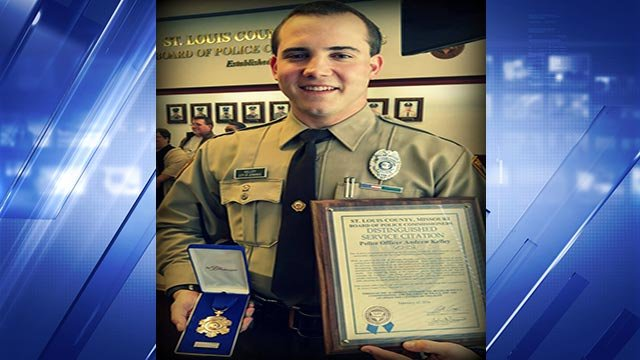 Officer Kelley was honored for his heroic actions in 2015 (Credit: St. Louis County Police Department)