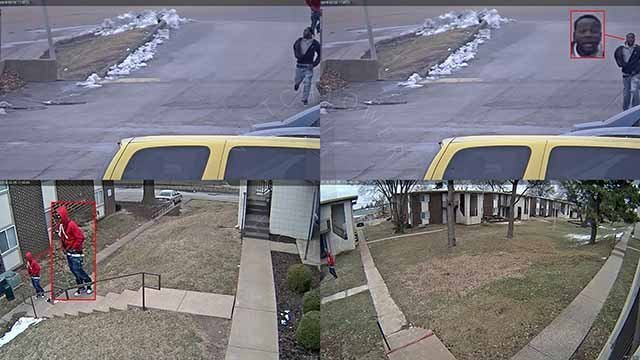 Police want to question these two men in connection with a shooting at a North County MetroLink station. Credit: St. Louis County Police