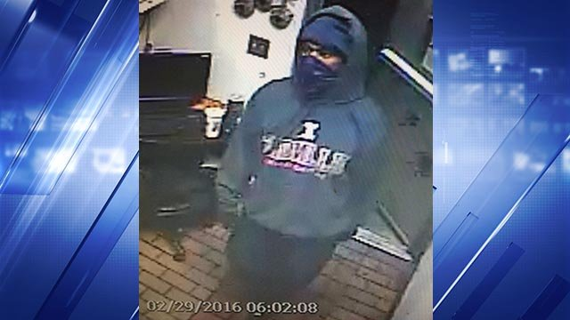 The O'Fallon, Illinois Police Department released a surveillance photo of a Hardee's robbery suspect Monday